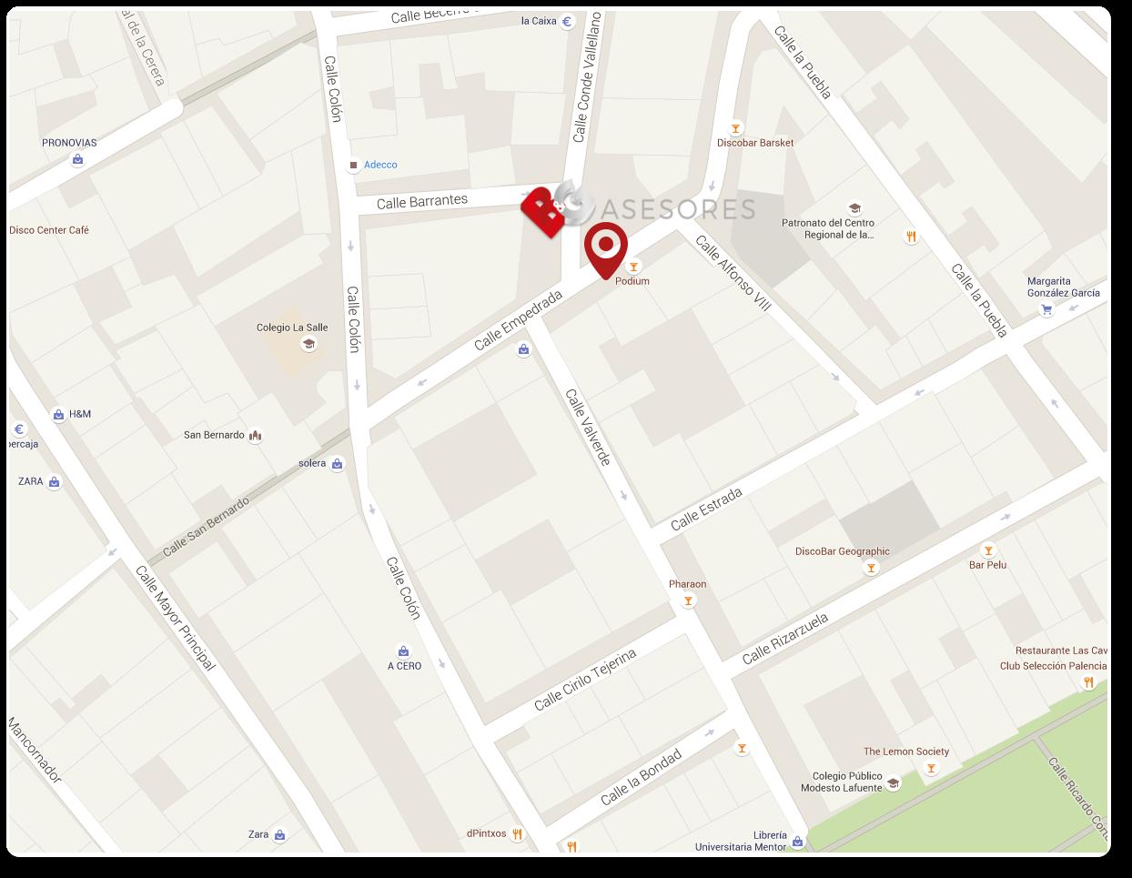 mapa ubicación B&G Asesores