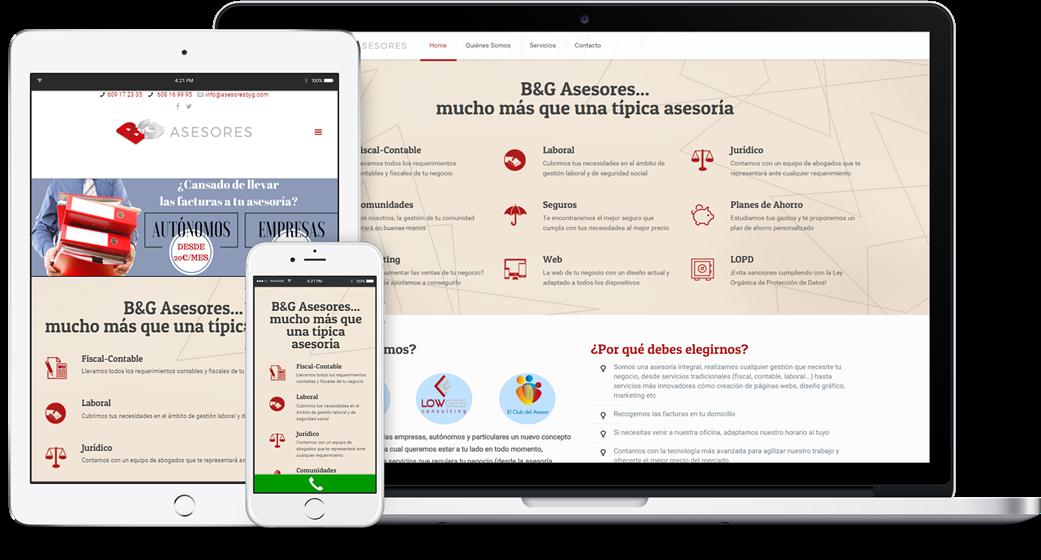diseño web responsive B&G Asesores
