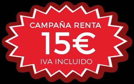 declaracion renta 15 euros