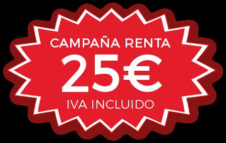 declaracion renta 25 euros